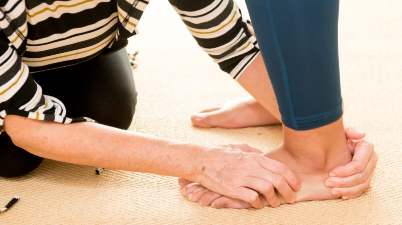 rolfing y cuidado de pies